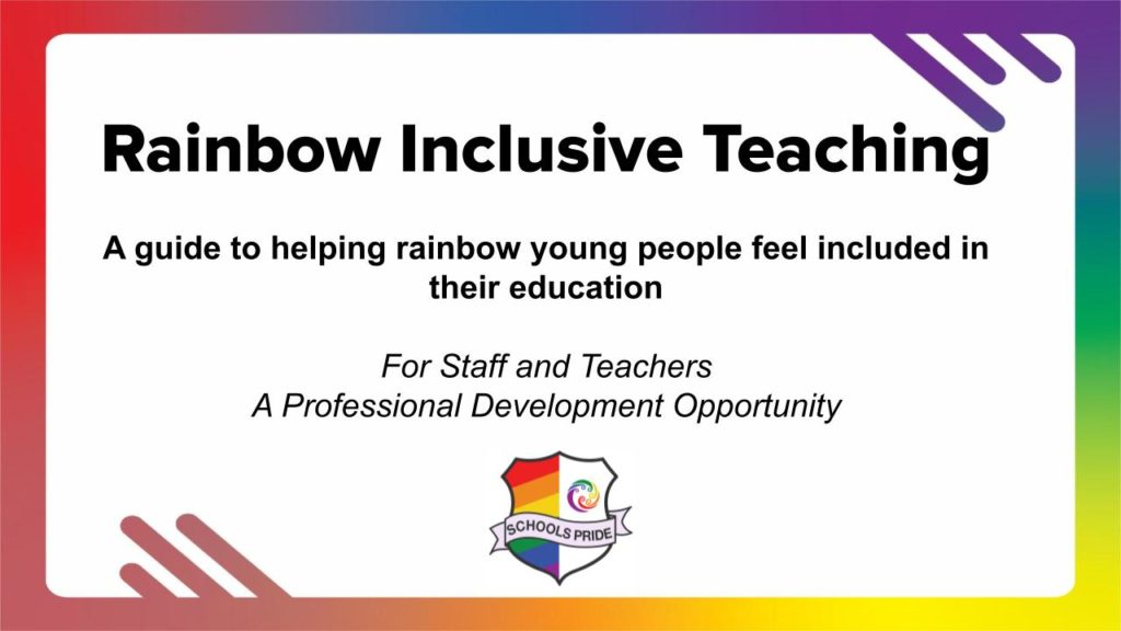 Teaching the rainbow - Professional Development for Teachers .pptm