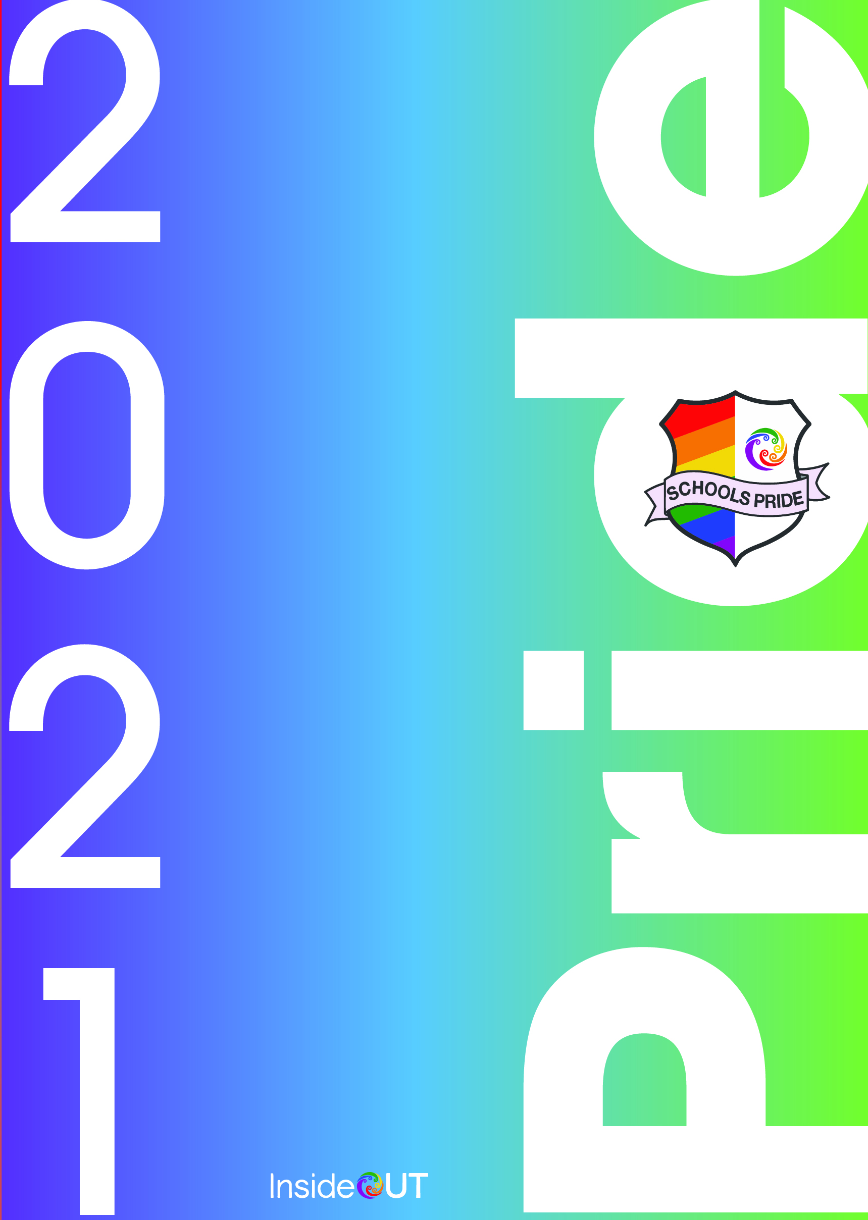 Pride 2021 Poster in blue green